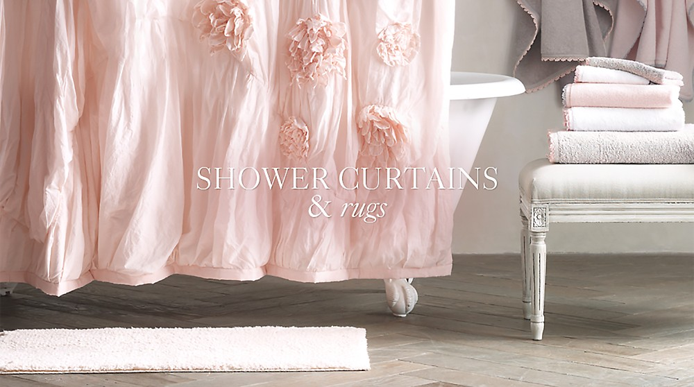 Shower Curtains & Bath Rugs | RH Baby & Child