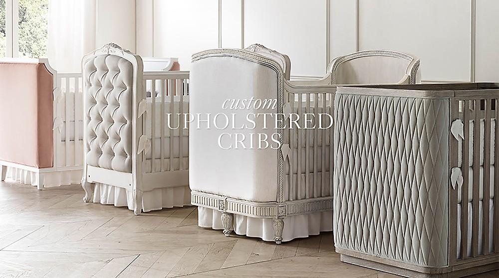 shop custom upholstered cribs