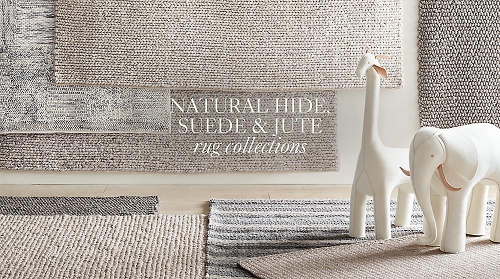 Natural Hide Suede Jute Rugs Rh
