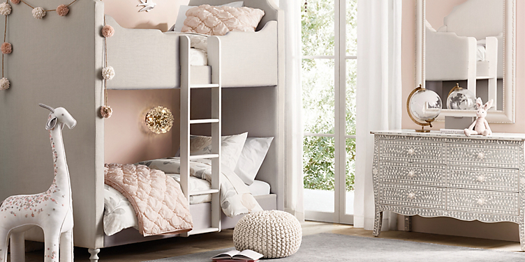 Coraline Upholstered Bunk Bedroom Rh Baby Child