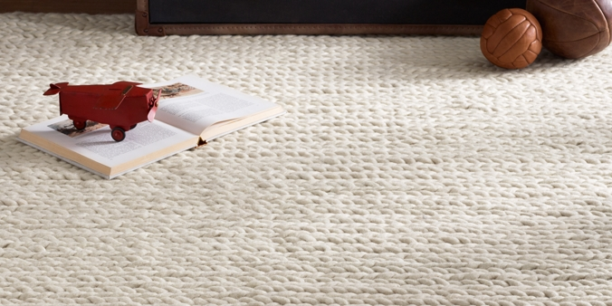 chunky braided wool rug | rh baby & child