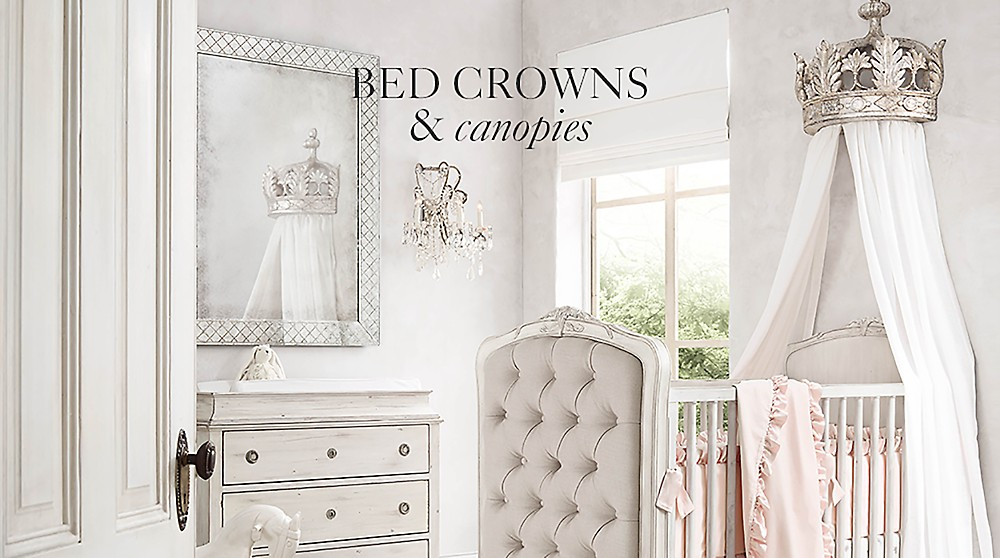shop bed crowns and canopies
