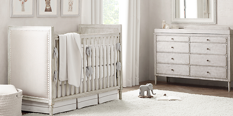Marcelle Upholstered Crib Collection