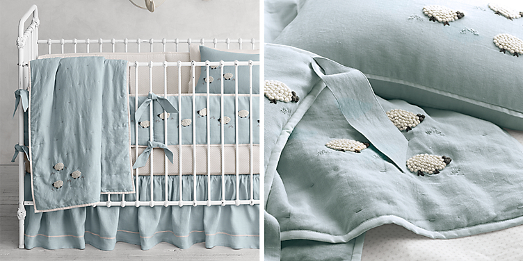 Cloud Nursery Bedding Thenurseries