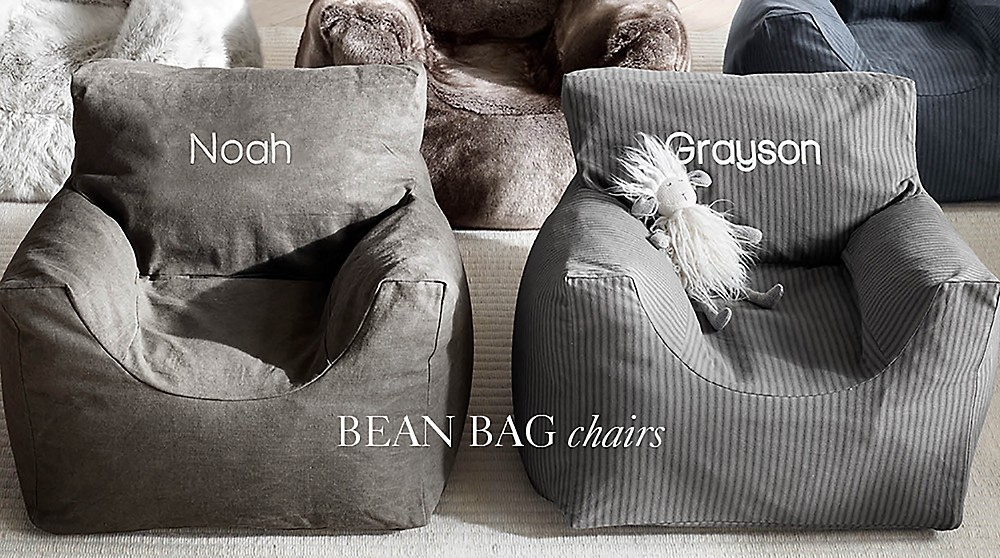 Shop Nursery Free Shipping Distressed Canvas Bean Bag Chair
