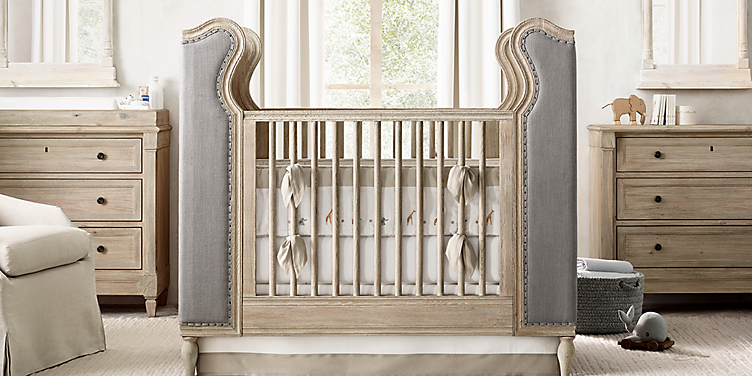 French Upholstered Wing Nursery Collection Rh Baby Child