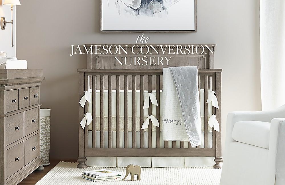 Jameson Nursery Antiqued Grey Oak