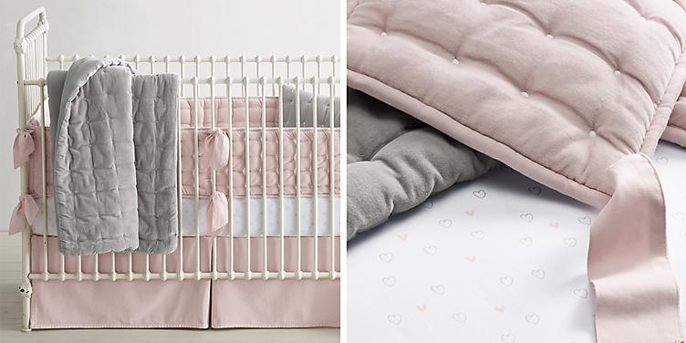 Box Tufted Velvet Nursery Bedding Collection Rh Baby Child