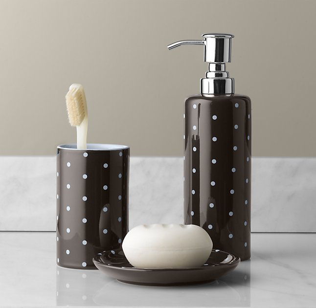 Polka Dot Bath Accessories Set