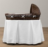 Heirloom Wicker Bassinet & Mattress - Espresso