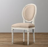 Mini Vintage French Upholstered Chair - Aged White