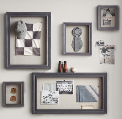 Shadow Box Memory Board - Grey