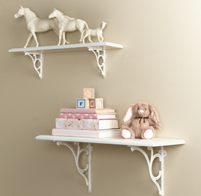 Distressed Wood Shelves