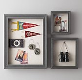 Shadow Box Memory Board - Grey