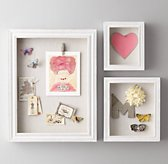 Shadow Box Memory Board - White