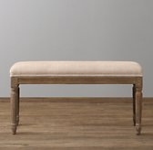 Antoinette Upholstered Bench - Weathered Oak