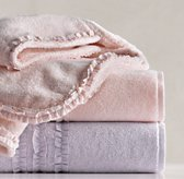 Vintage Ruffle Bath Towels