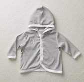 Stripe Hooded Jacket - White