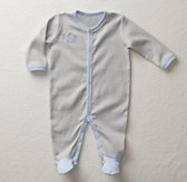 Stripe Footed One Piece - Cloud