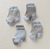 Stripe Socks Set of 4 - Cloud