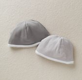 Stripe Hats Set of 2 - White