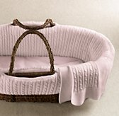 Cable Knit Moses Basket Bedding