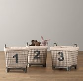 Industrial Baskets & Liners (Set of 3)