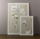 Weathered Pinboard - White