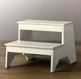 Weathered Step Stool - White