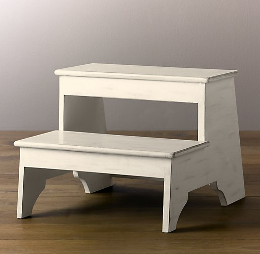 Weathered Step Stool - White. Click to Zoom & Weathered Step Stool - White islam-shia.org