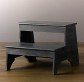 Weathered Step Stool - Grey