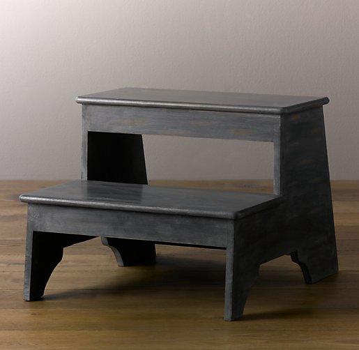 Enjoyable Weathered Step Stool Grey Ibusinesslaw Wood Chair Design Ideas Ibusinesslaworg