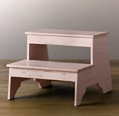 Weathered Step Stool - Petal
