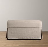 Camelback Ottoman with Slipcover