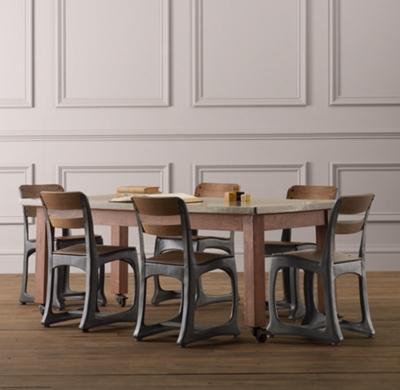 Groovy Vintage Schoolhouse Large Play Table Short Links Chair Design For Home Short Linksinfo