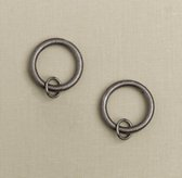 Classic Loop Rings Set of 7 - Pewter