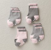 Stripe Socks (Set of 4) - Petal