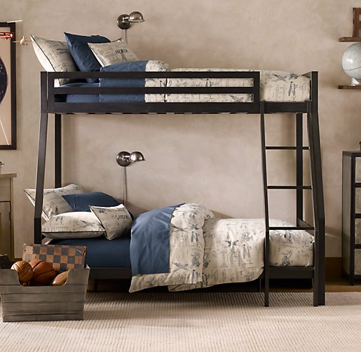 Industrial Loft Twin Over Full Bunk Bed