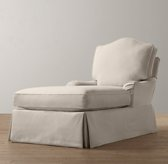 Camelback Chaise With Slipcover
