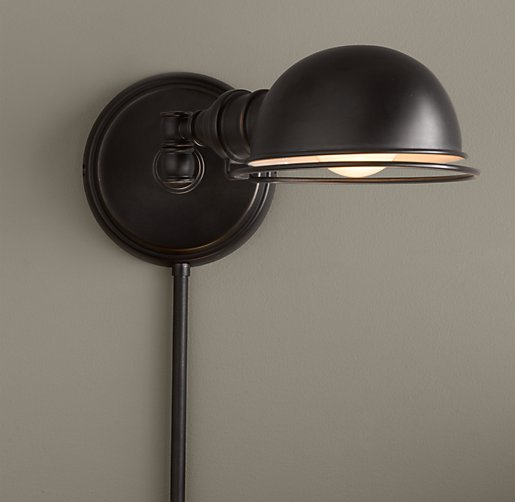 academy task sconce oil rubbed bronze. Black Bedroom Furniture Sets. Home Design Ideas
