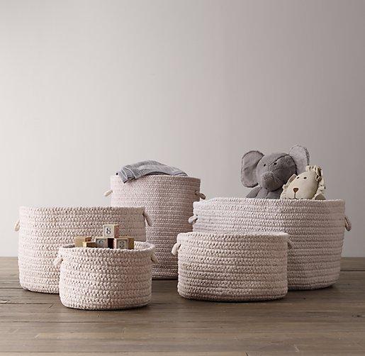 Braided Wool Storage Natural