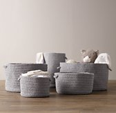 Braided Wool Baskets - Grey