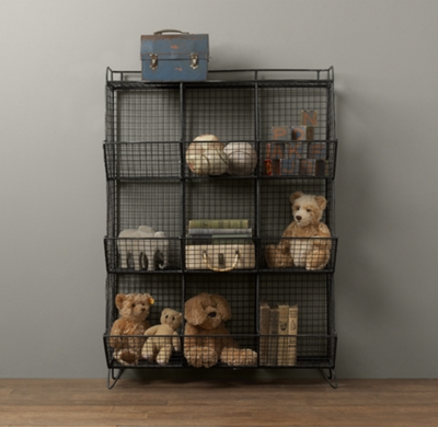 Industrial wire 9 cubby storage zinc - Casier metal rangement ...