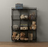 Industrial Wire 9-Cubby Storage - Zinc