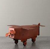 Vintage Metal Airplane Money Box