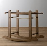 Moses Basket Stand - Antique Oak