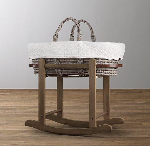 moses basket stand antique oak. Black Bedroom Furniture Sets. Home Design Ideas
