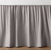 European Vintage-Washed Percale Crib Skirt