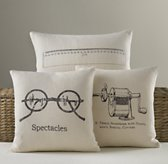 Schoolhouse Linen Pillow Cover & Insert