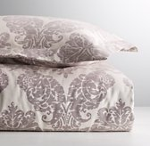 European Vintage-Washed Damask Matelassé Duvet Cover